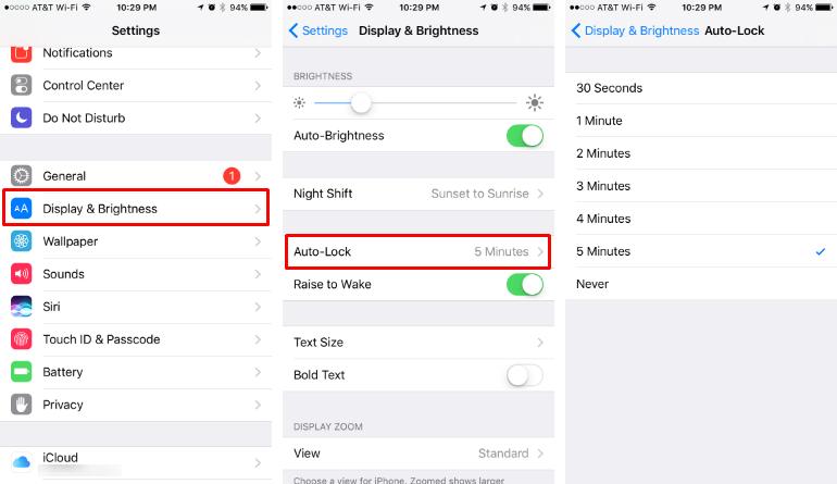 Cómo cambiar el tiempo que tarda en dormir / bloquear el iPhone.