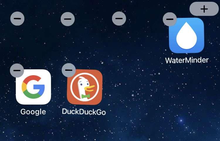 Agregue iconos en blanco en la pantalla de inicio del iPhone