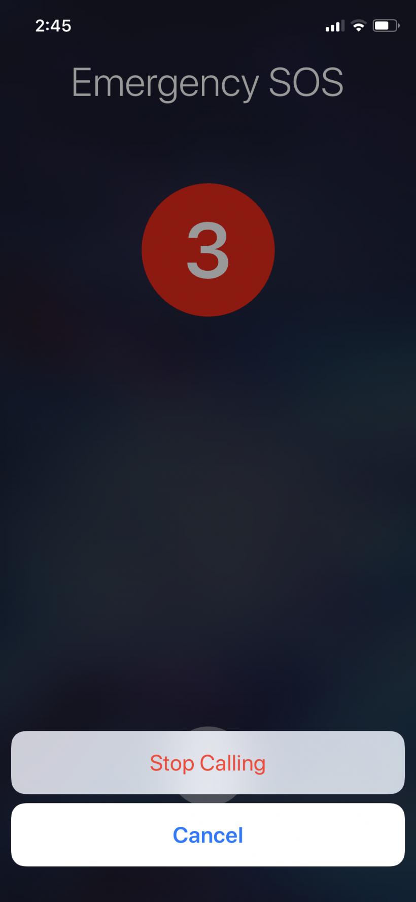Cómo hacer una llamada de emergencia al 911 desde el iPhone X.