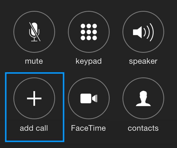 llamada de conferencia para iPhone