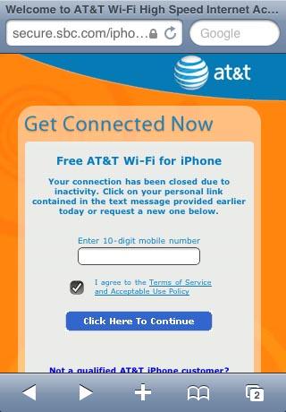 apple iphone att wifi punto de acceso gratuito
