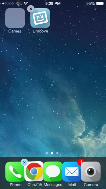 ¿Cómo se crea una carpeta en iOS 7