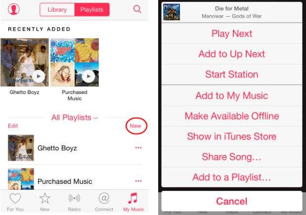 Lista de reproducción Apple Music