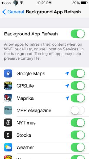 Cómo desactivar la actualización de aplicaciones en segundo plano