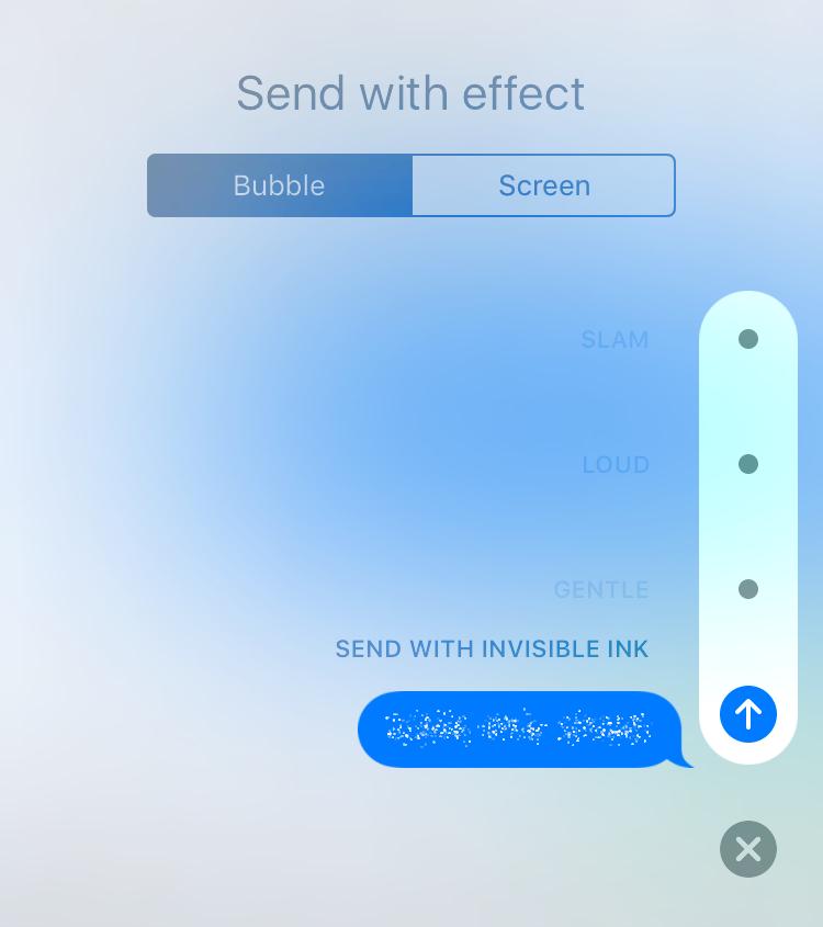 Tinta invisible para iOS 10