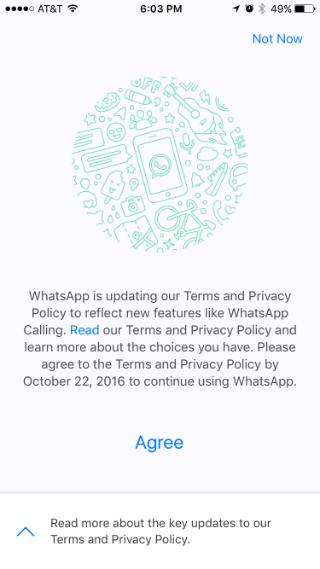 Como evitar que WhatsApp comparta su número de teléfono con Facebook.