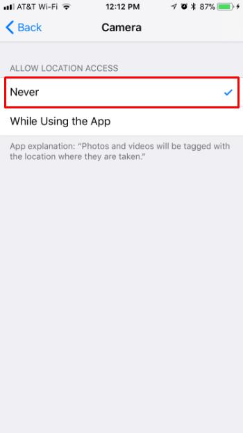 Como desactivar el geoetiquetado en la cámara del iPhone.