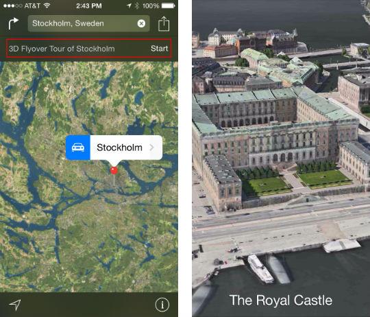 Cómo hacer un viaje en 3D sobre iOS 8 Maps
