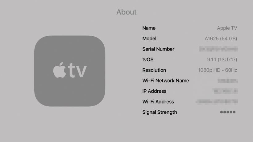 Obtenga la dirección IP de Apple TV
