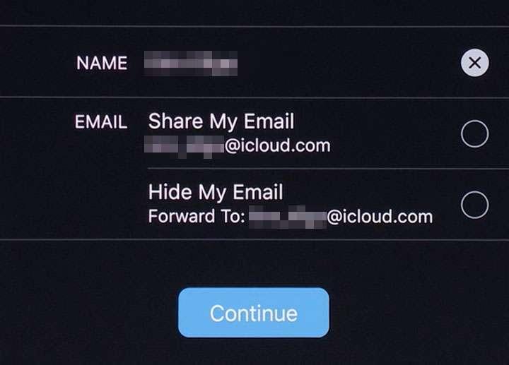 Acceder con Apple