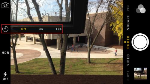 Establece el temporizador de la cámara a iOS 8