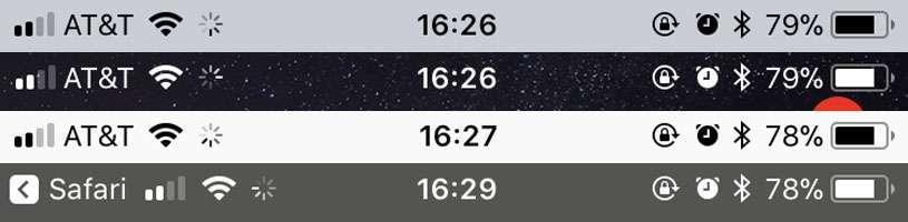 Siempre hace girar iOS 11