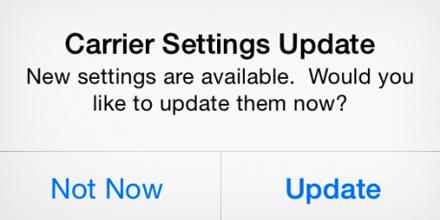 Actualización de la configuración del operador de iPhone