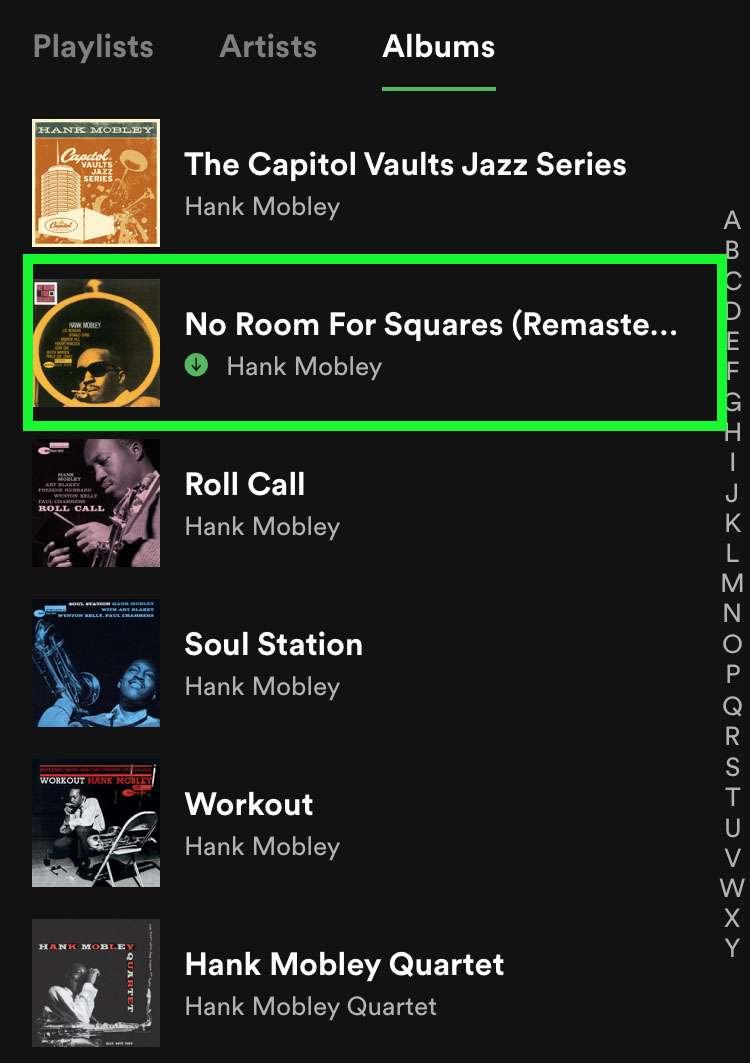 Icono del álbum descargado de Spotify