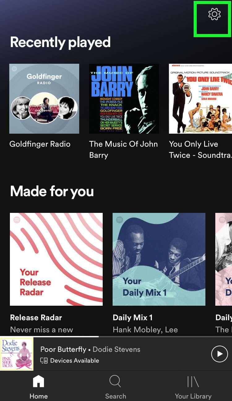 Configuración de Spotify
