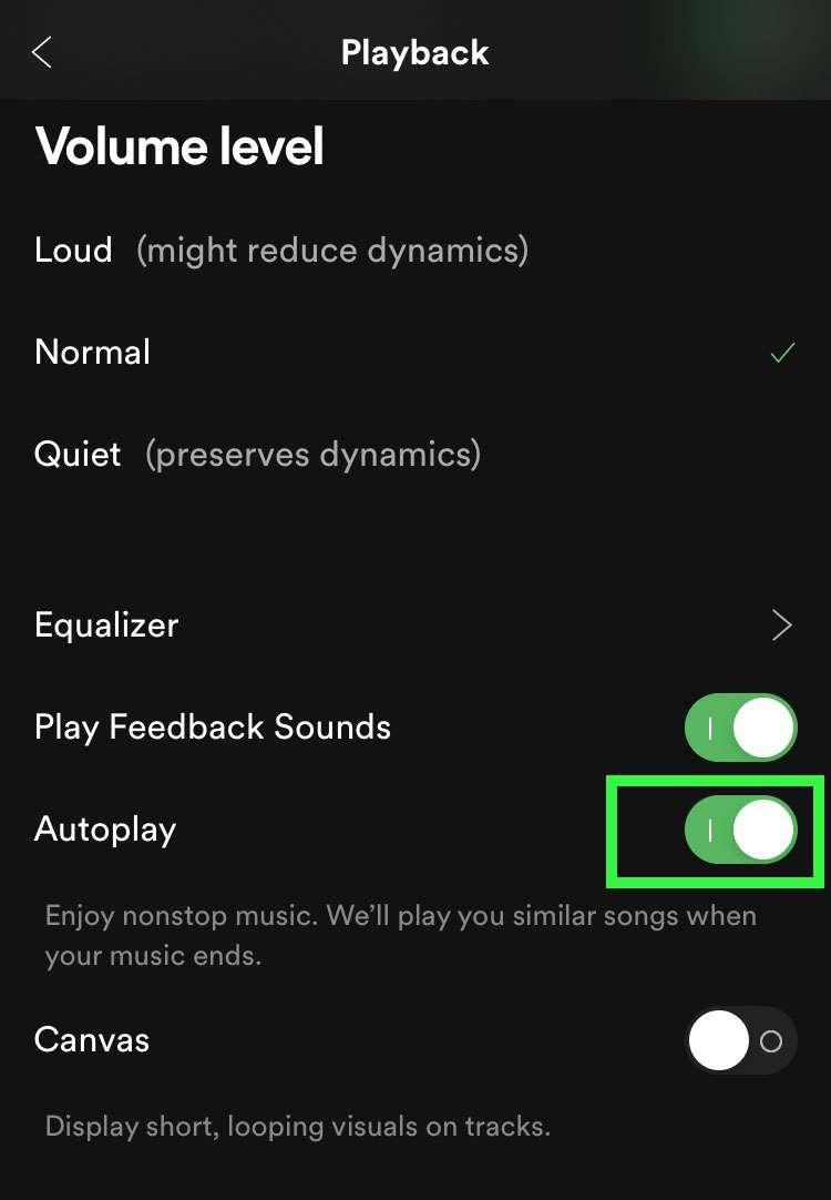 Desactive la reproducción automática de Spotify