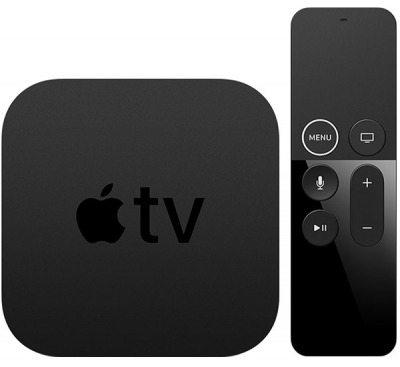 Dispositivo Apple TV 4K y control remoto