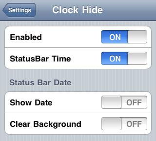 Reloj de pantalla de bloqueo Ocultar las modificaciones de Cydia