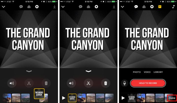 Cómo añadir tarjetas de título a tus vídeos de Clips en el iPhone y el iPad.