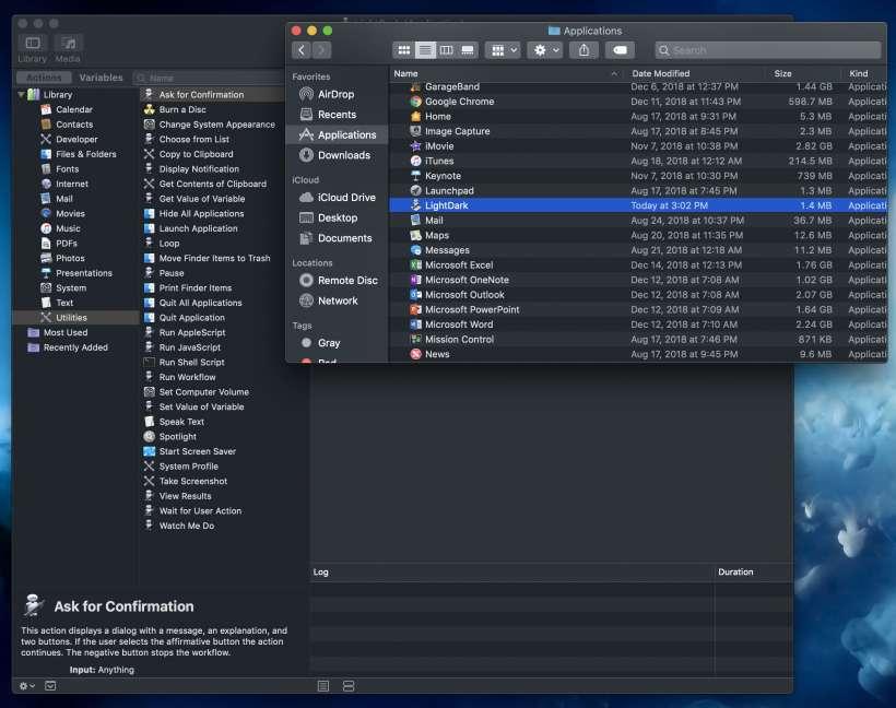 Como añade un interruptorde modo nocturno en el Dock de Mac.