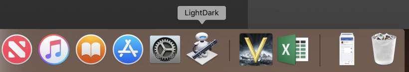 Como añade un interruptorde modo nocturno al Mac Dock.