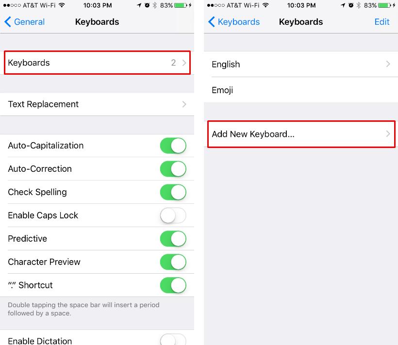 Cómo configurar un teclado en varios idiomas en el iPhone o el iPad.