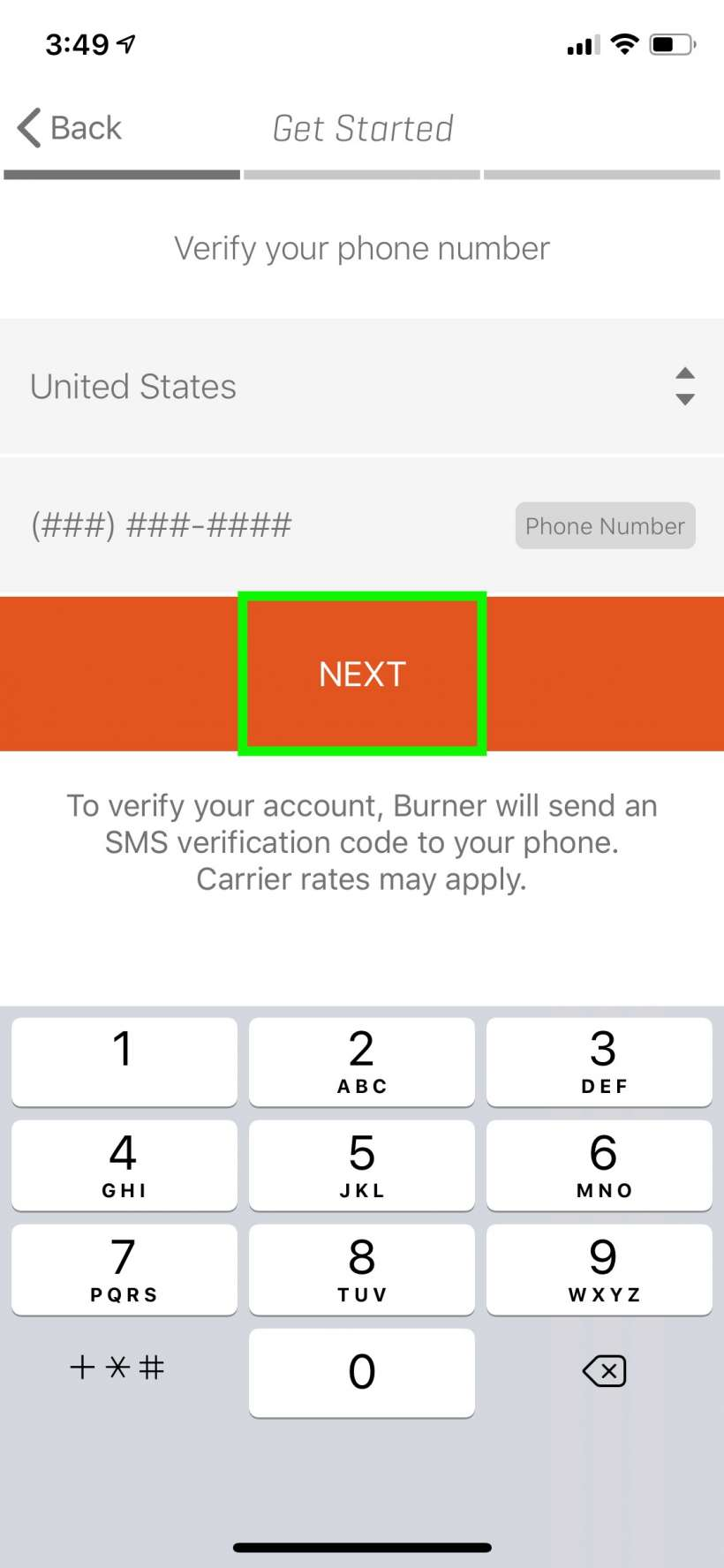 Cómo obtener un número de teléfono de quemador temporal para su iPhone.