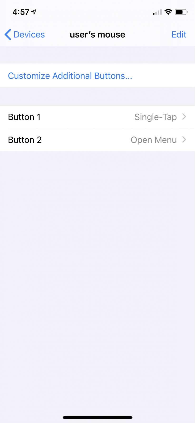 Cómo conectar un ratón bluetooth al iPhone.