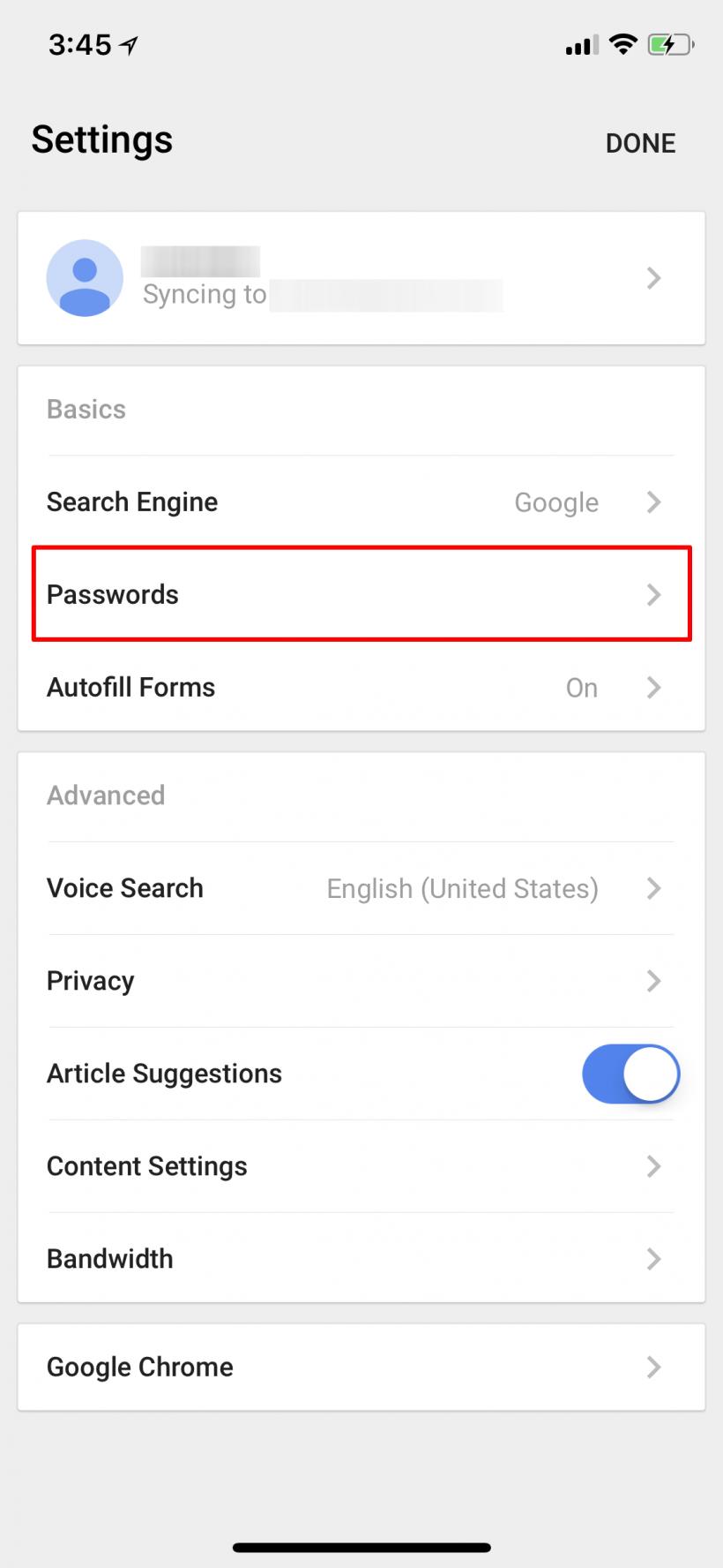 Cómo exportar las contraseñas de Chrome para iOS en iPhone y iPad.