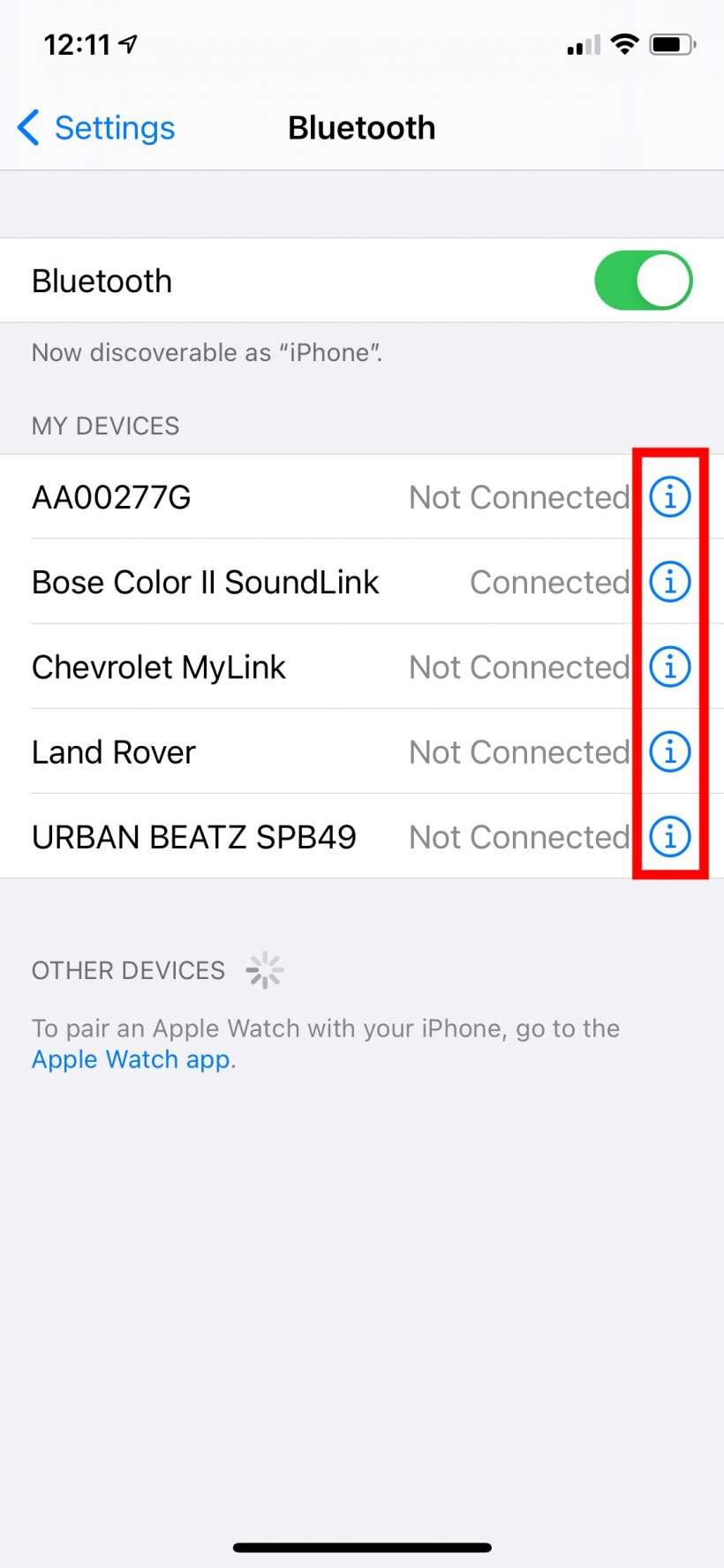 Como clasificar los tipos de dispositivos Bluetooth iPhone y iPad.
