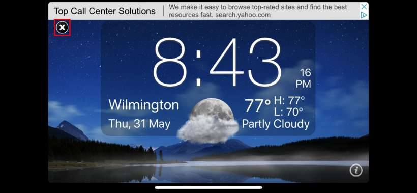 Como convertir su iPhone en un reloj de mesilla de noche en orientación horizontal con Nightstand para iOS.