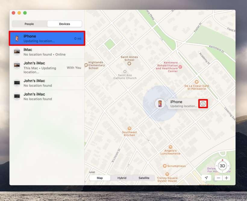 Como se utiliza Find My Mac para localizar el iPhone y el iPad