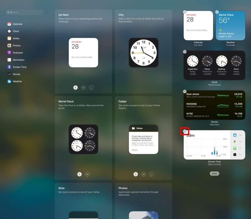 Cómo añadir, eliminar y personalizar widgets del Centro de notificaciones MacOS Big Sur.
