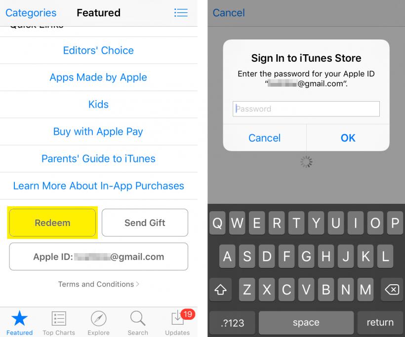 Canjea la tarjeta regalo de iTunes para iOS
