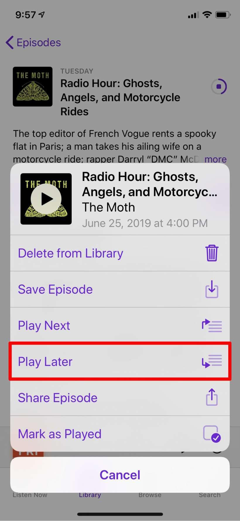 Como se crean listas de reproducción a Podcasts para iPhone y iPad.