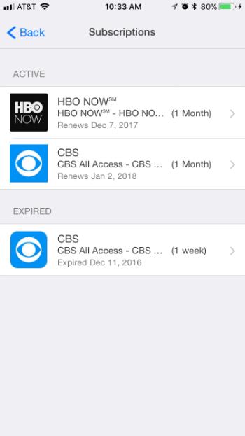 Como cancelar las suscripciones de iTunes a HBO Now, Hulu, Netflix, Apple Music, Pandora, Spotify iPhone y iPad.