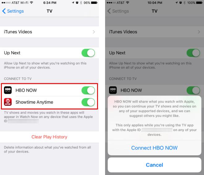 Como enlazar los canales a la aplicación iOS TV.
