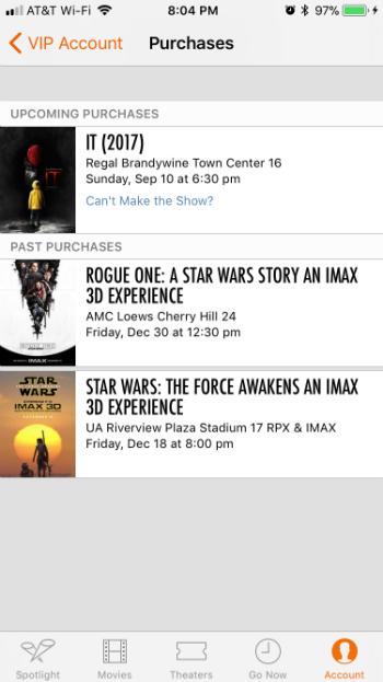 Cómo añadir entradas de películas Fandango a Apple Wallet al iPhone iOS.