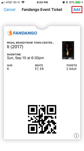 Cómo añadir entradas de películas a Apple Wallet al iPhone.