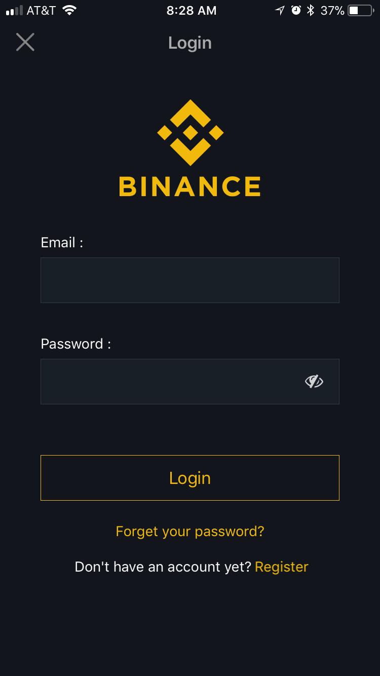 Cómo configurar y comenzar a negociar criptomonedes con la aplicación Binance para iOS iPhone y iPad.