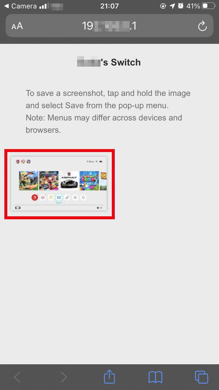 Capturas de pantalla de Nintendo Switch 5