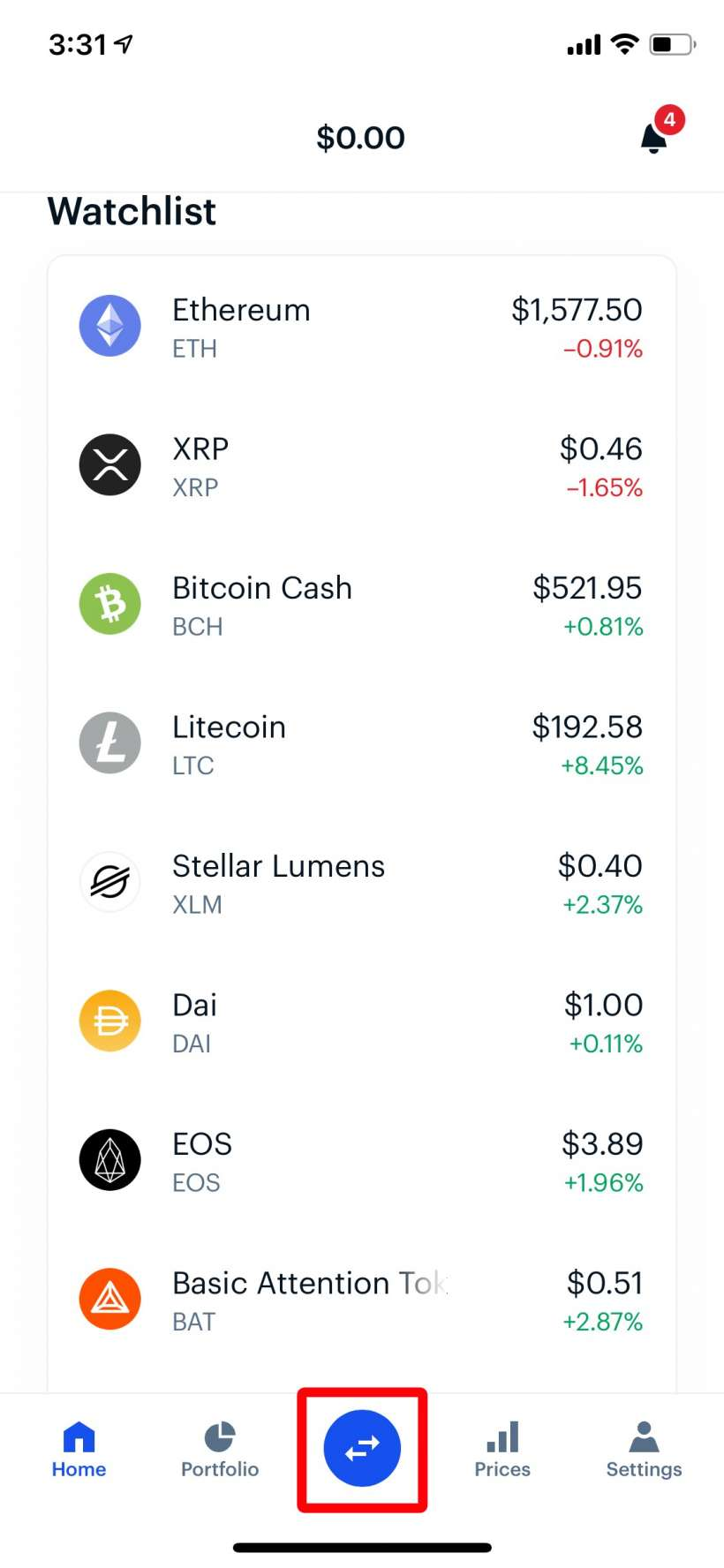 Como comprar Bitcoin, Enjin y BAT con Coinbase iPhone o iPad.