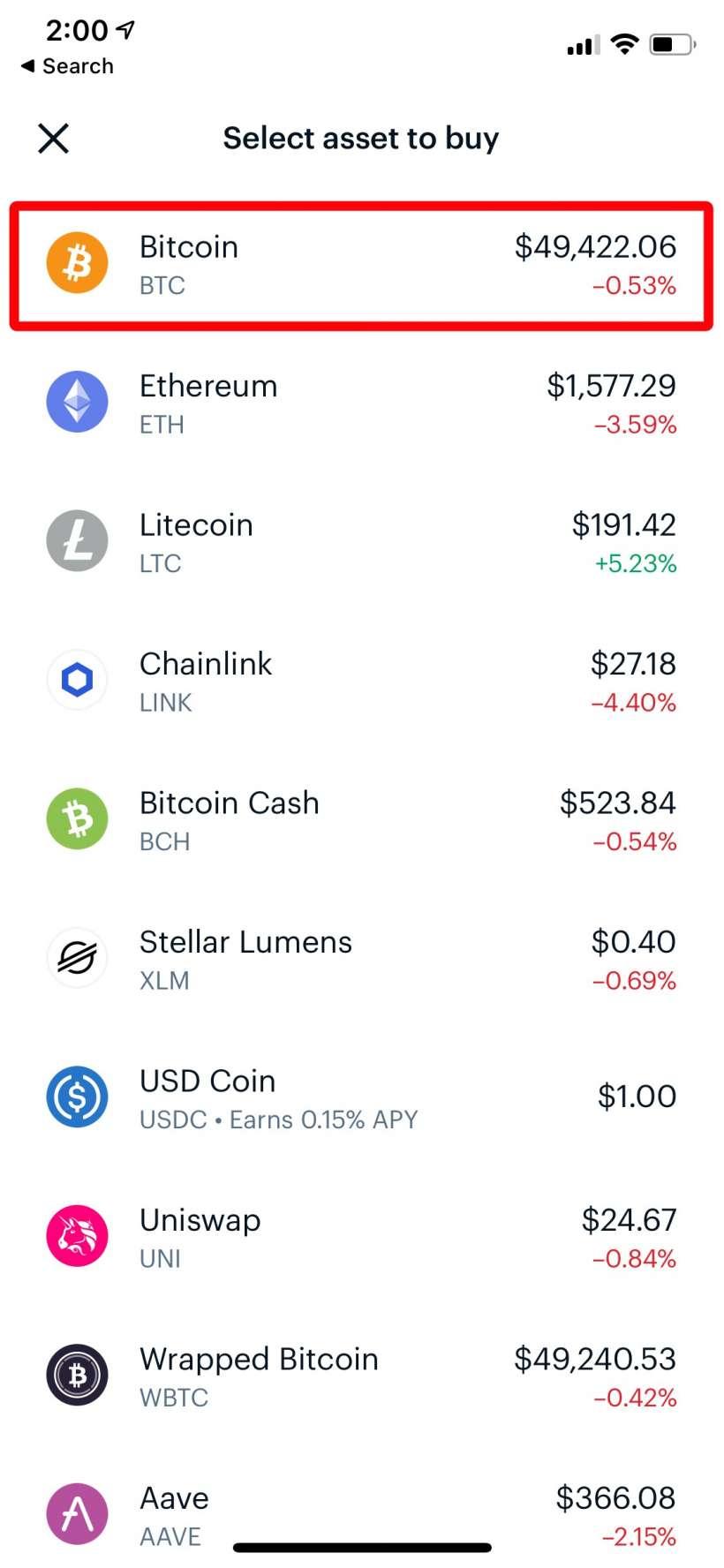 Como comprar Bitcoin, EOS y BAT con Coinbase iPhone o iPad.