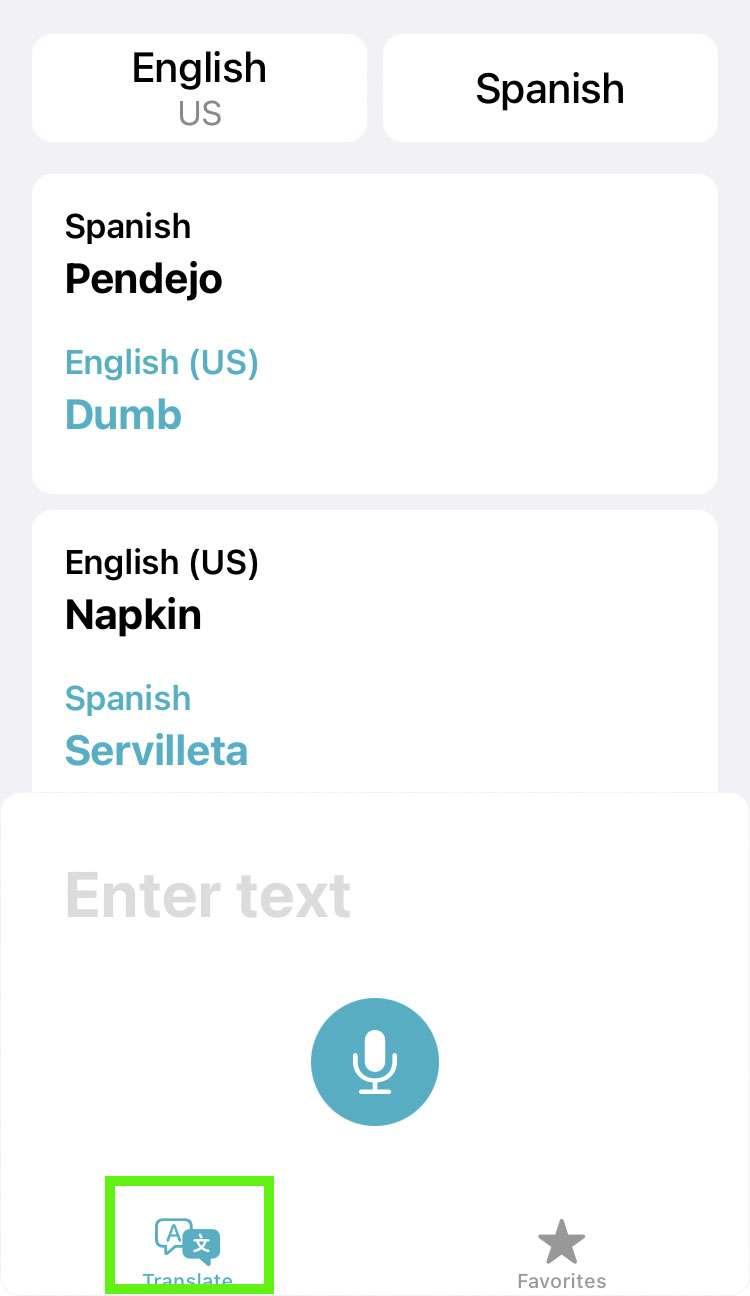 Traduce el historial iOS