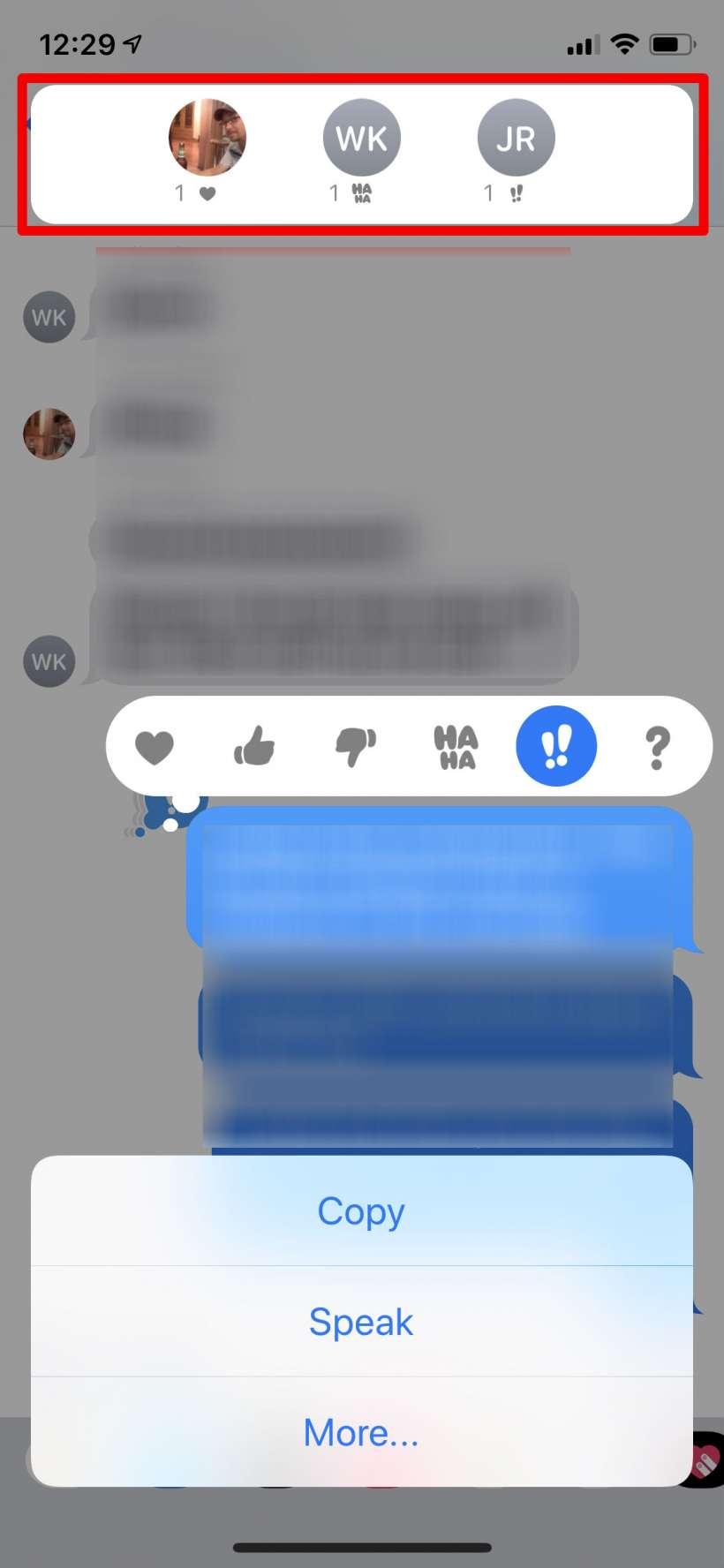 Como se puede ver a quien le gustó o no, o dio mis mensajes en el iPhone.