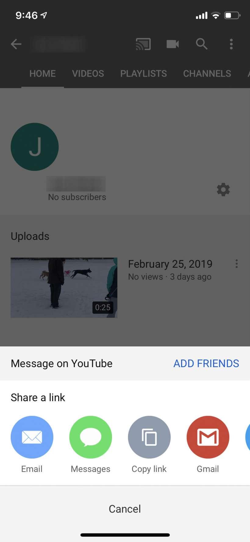 Como puede encontrar el enlace a su canal de YouTube y compartirlo.