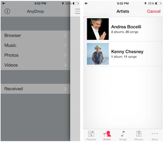 iOS 7 jailbreak comparte cualquier archivo AirDrop iOS