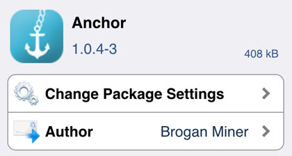 iOS 8 Anchor Cydia