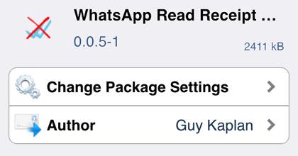 iOS jailbreak desactiva los recibos de lectura de WhatsApp