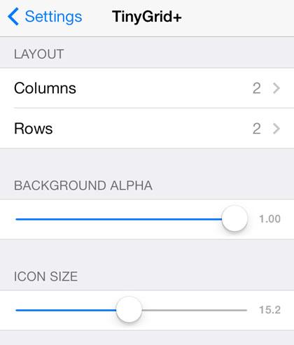 retícula de iOS 7 reducida